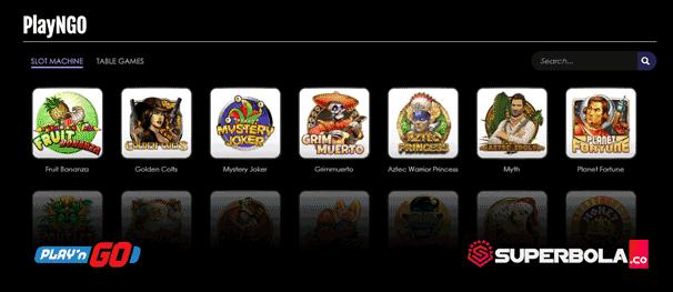 Daftar permainan slot PlayNGo SuperBola