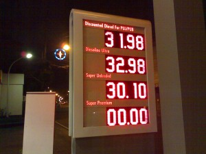 gasoline price taken on 01.05.2009