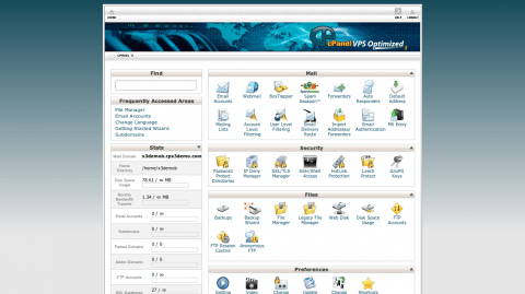 Sample Cpanel Screenshot