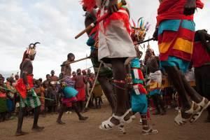 Marcy Mendelson, The Samburu Story | Samburu moran (warriors) jump high as part of the dance, and to show off their skills.