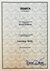 Sonya Wilkins Coaching Skills Certificate