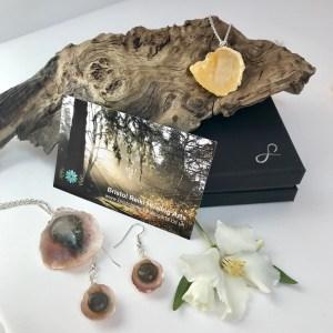 Bristol Reiki Healing Arts Crystal Shell Jewellery