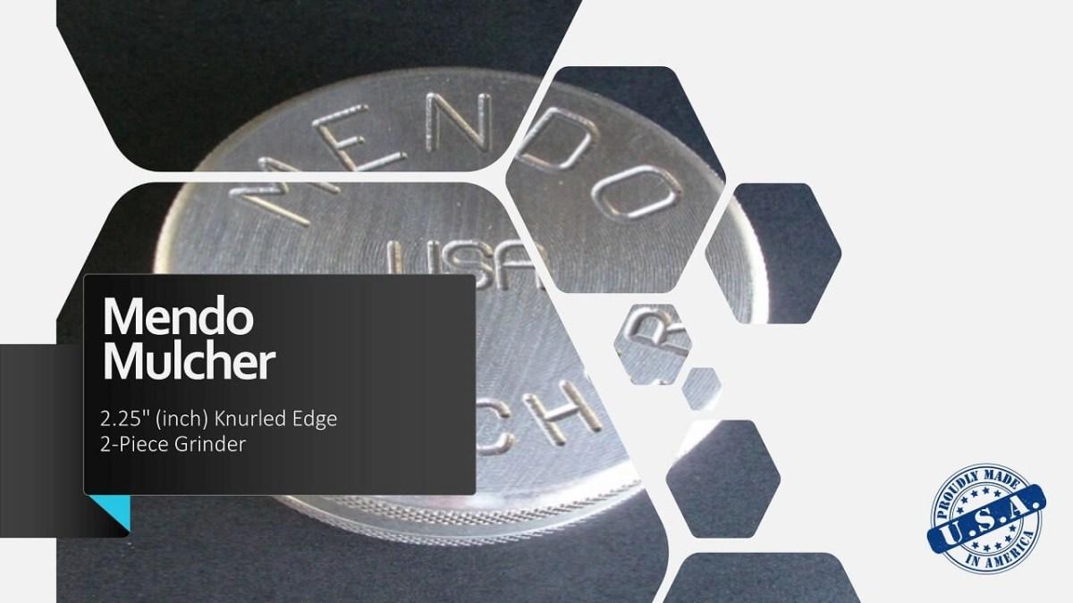 "Mendo Mulcher 2.25"" (inch) 2-Piece Screenless Grinder Facebook OG"