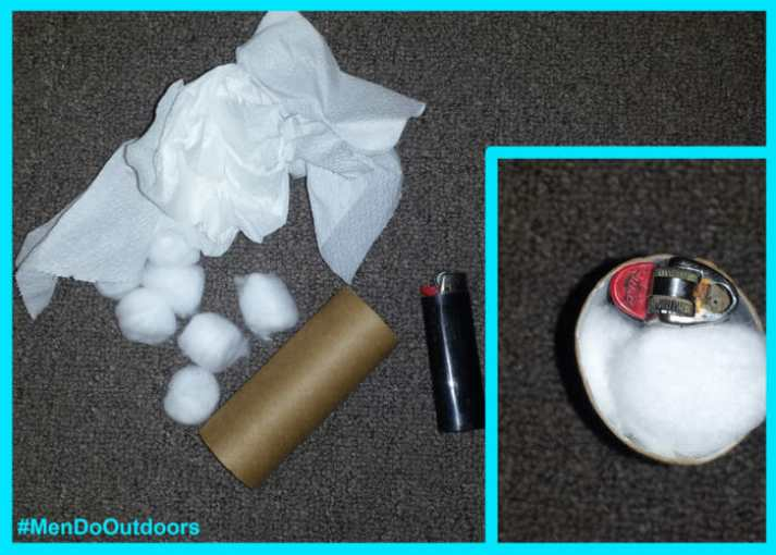Toiler paper roll fire starter kit