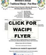 2016 Wacipi POW WOW flyer