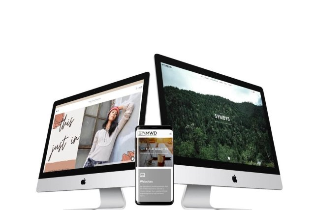 Mendo Web Design ecommerce website portfolio on desktop computer