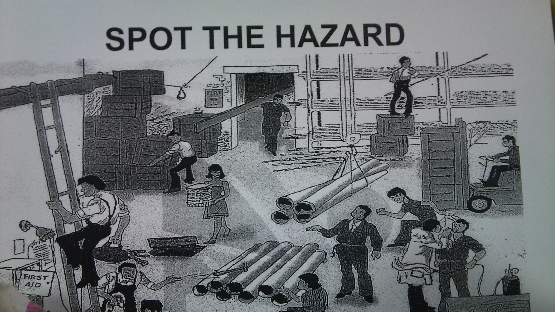 Spot The Hazard Worksheet