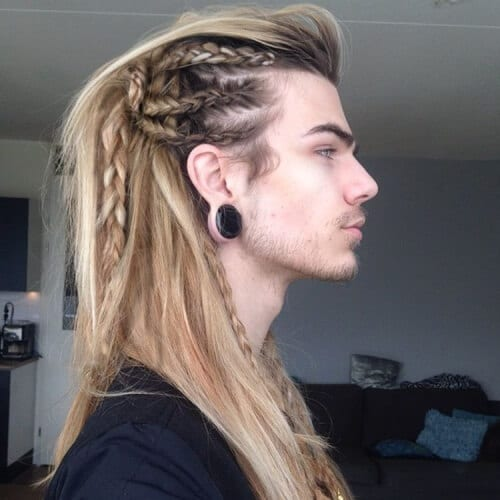 Viking Hair Braids Male Tutorial Novocom Top