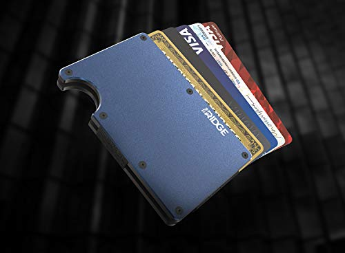The Ridge Wallet Authentic | Minimalist Metal Wallet with Cash Strap