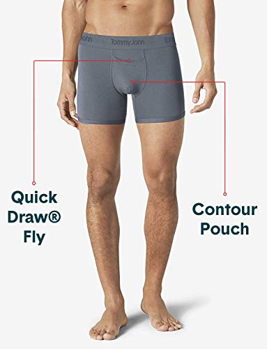 Tommy John Men's Second Skin Trunk, 3 Pack