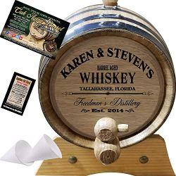 American Oak Barrel Personalized Whiskey Aging Barrel