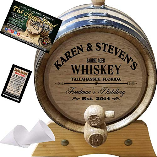 American Oak Barrel Personalized Whiskey Aging Barrel