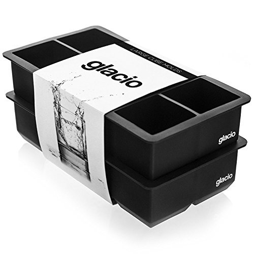 glacio Giant Ice Cubes Tray for Whiskey - 2 Pack