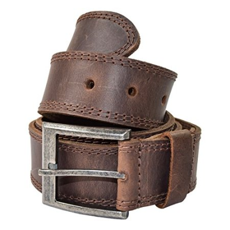 Hide & Drink Men's Two Row Stitch Leather Handmade Belt