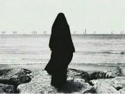 muslimanka, more, obala, sloboda, hidžab