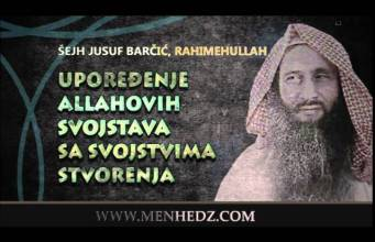 Jusuf Barčić, Allahova svojstva
