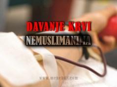 davanje krvi nemuslimanima