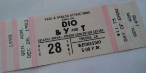 Photo of Dio/Y&T ticket