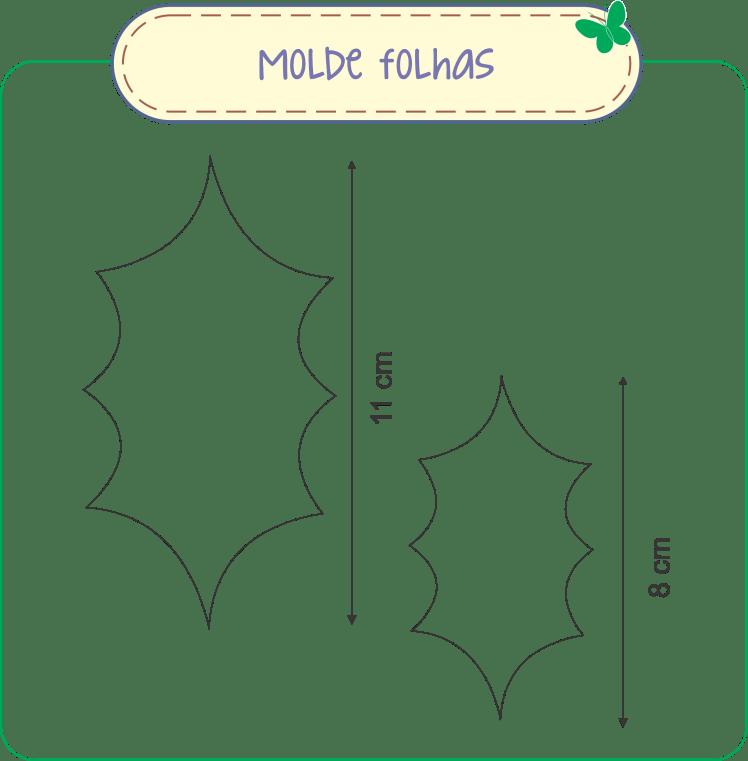 Molde Folhas