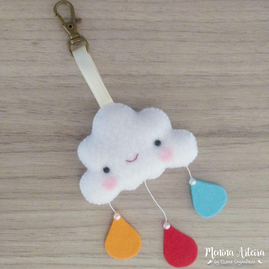 Lembrancinha Chaveiro Nuvem Chuva De Amor De Feltro Passo A Passo