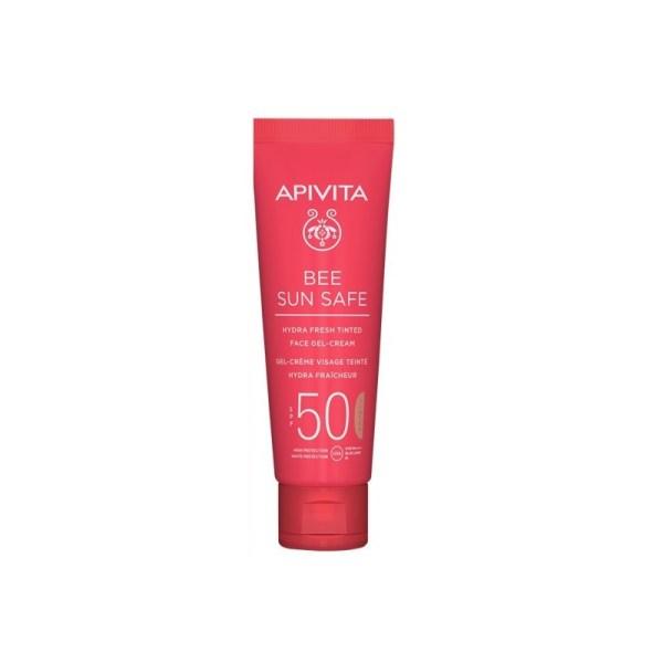 apivita bee sun safe hydra spf50 tinted face gel cream 50ml