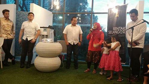 Saya saat memberikan kesan-kesan selama mengikuti acara Rentak Selangor.