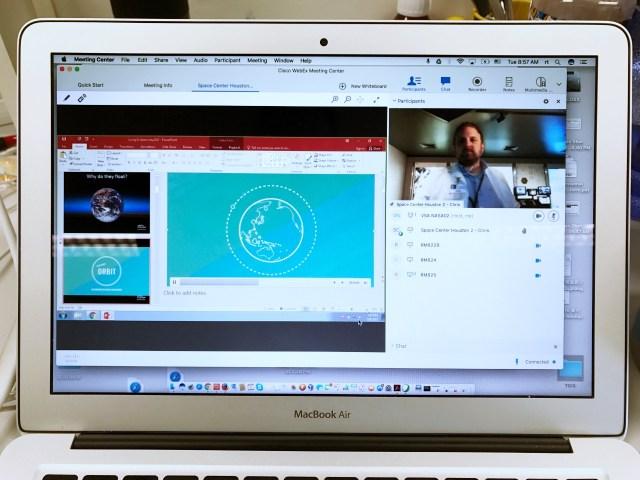VSA利用視像會議,令學生和NASA工程師可以展開對話,達至到遙距教育效果。