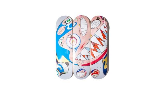 Takashi Murakami Flying Dob Skateboard Deck Set (ComplexCon 2018 Exclusive )/炒價約 $4,200 至 $5,000