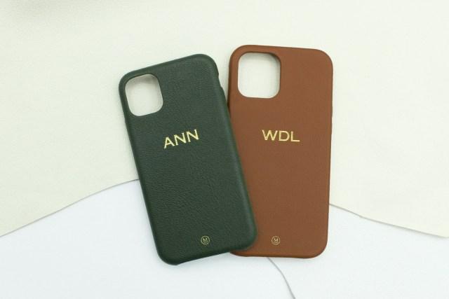 任意兩款山羊皮 iPhone 手機殼,對應 iPhone 6 至 12 Pro Max 型號,可免費加添燙金刻字服務|定價hkd661