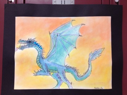 Dragon from summer enrichments' painting & drawing class