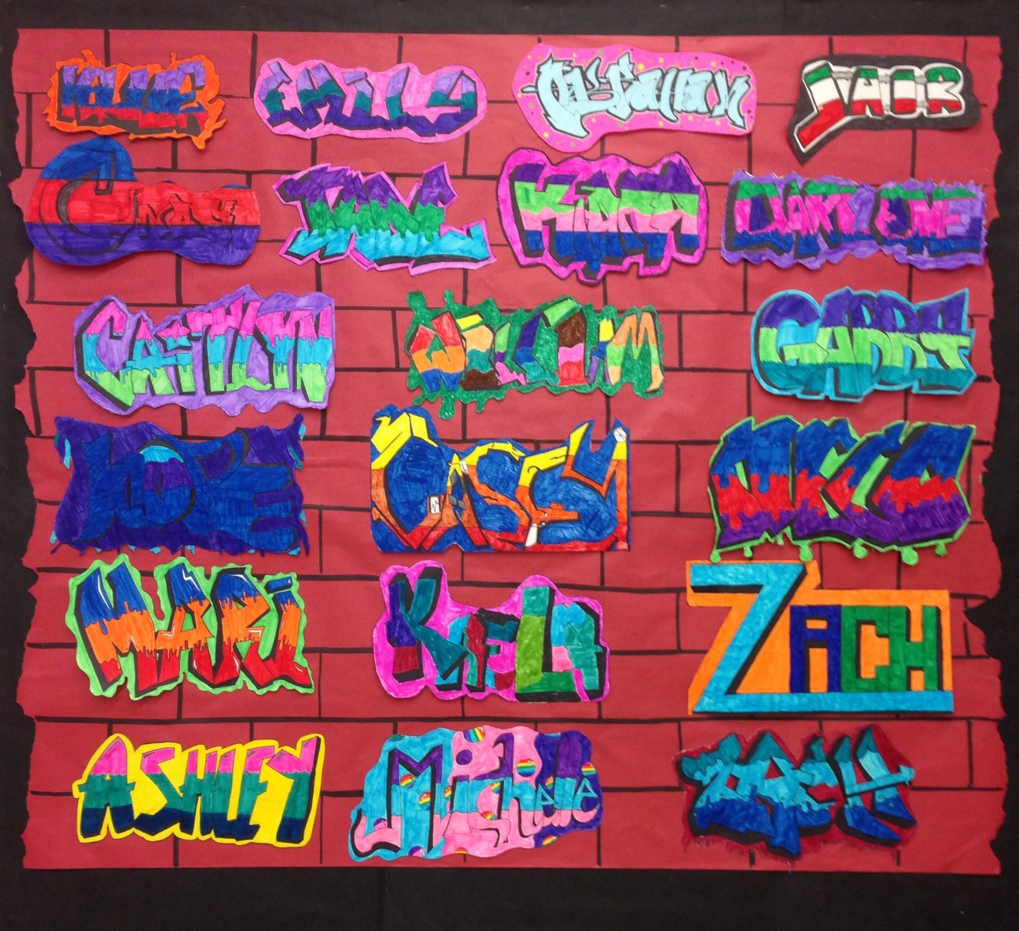 Graffiti Name Art Lesson Ideas About Graffiti Names