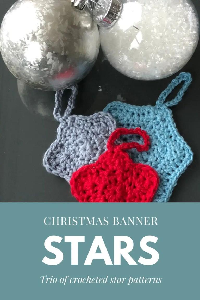 Starry Banner Crocheted Stars