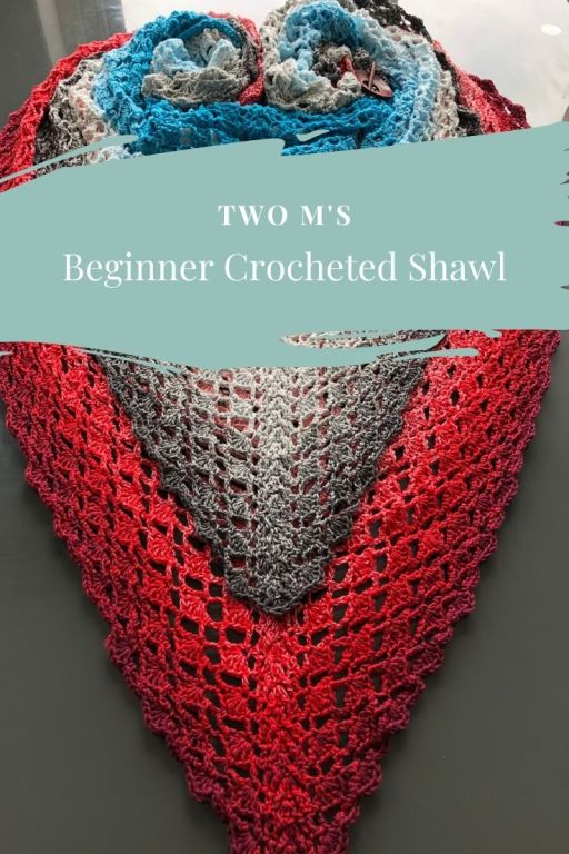 Easy crochet lace triangle shawl pattern - Two M's Shawl