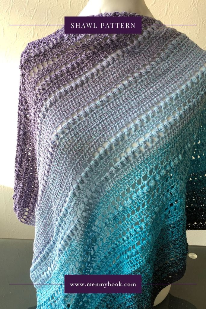 Beginner crochet triangle shawl pattern