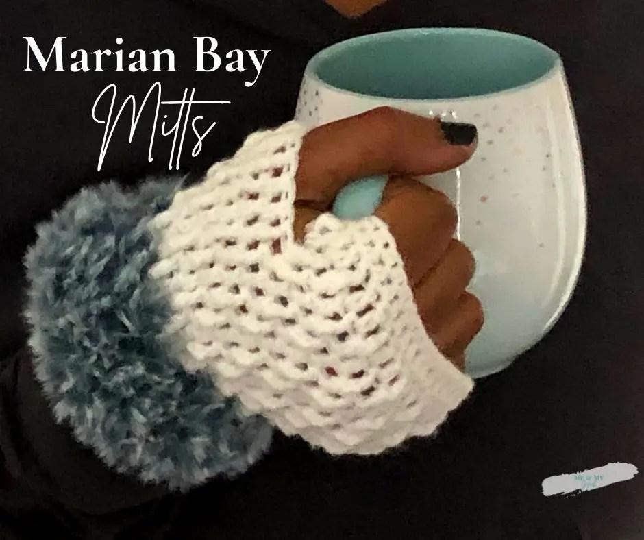 Marian Bay Mitts - beginner crocheted fingerless gloves
