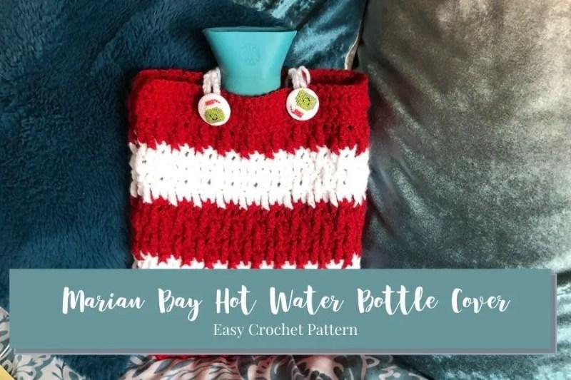 Marian Bay Hot Water Bottle Cover beginner crochet pdf pattern