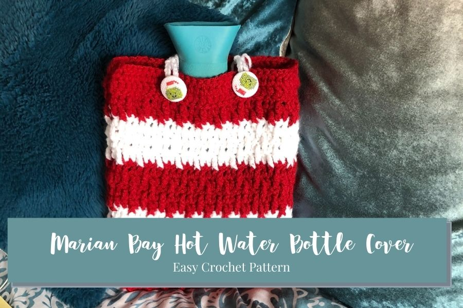Marian Bay Hot Water Bottle Cover beginner crochet pdf pattern
