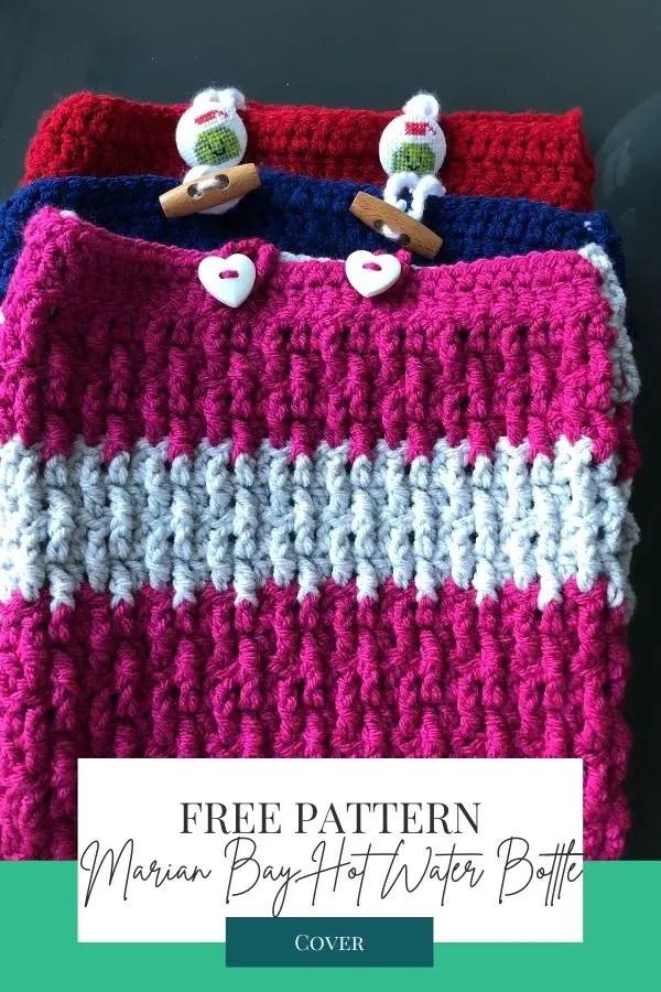 Easy beginner crochet hot water bottle cover pattern