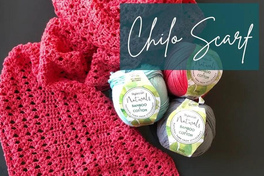 Easy lacy crochet scarf pattern