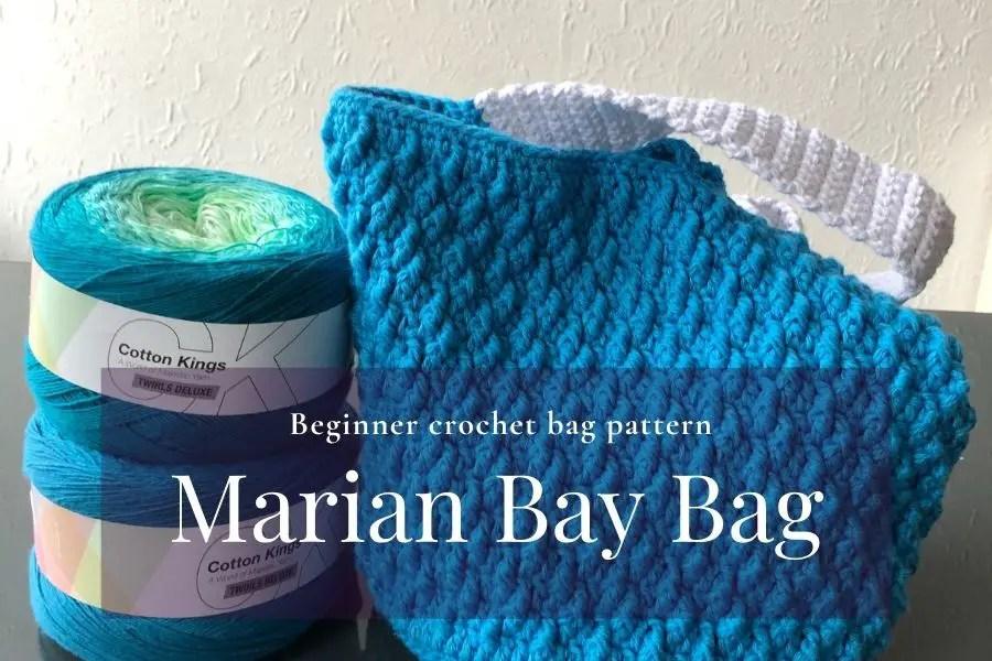 Easy beginner crochet bag pattern
