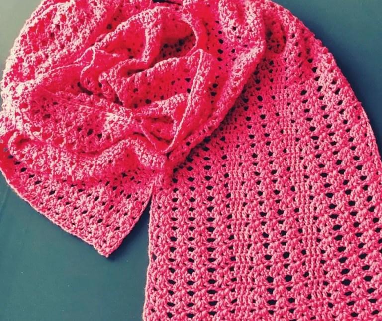 Easy Lacy Crochet Scarf