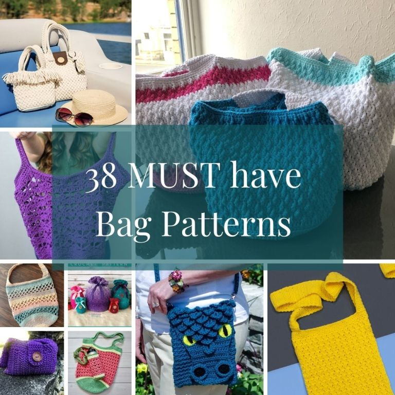 38 MUST have Crochet Bag Patterns