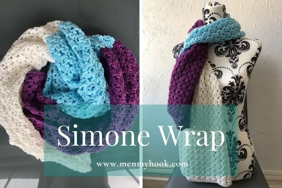 Crochet wrap pattern - Simone Wrap