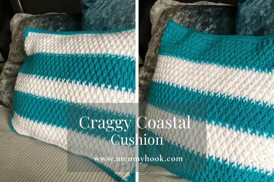 alpine stitch crochet cushion cover pattern