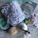 Crochet exfoliating scrubbie pattern - Loopy Marian Bay Mitt