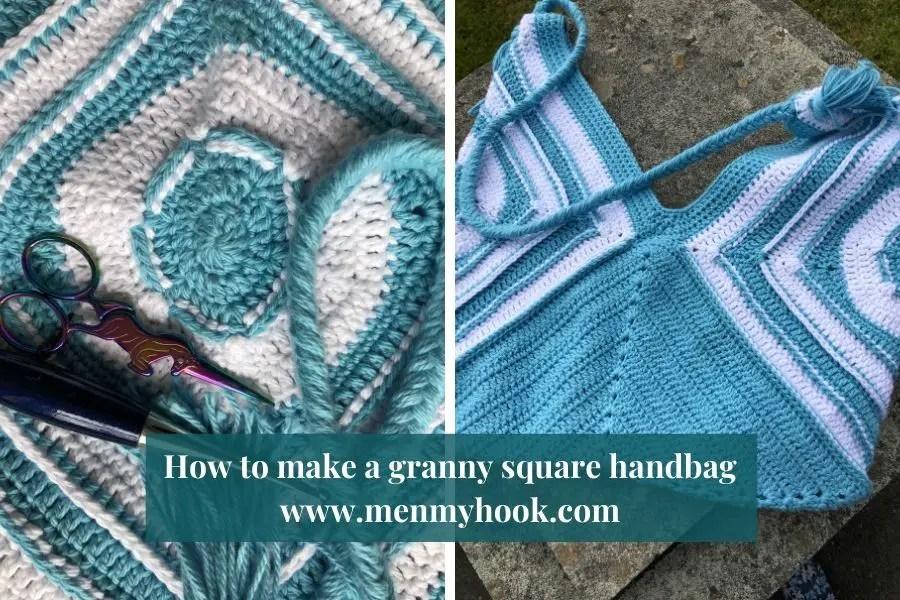 How to make an easy granny square bag - Harmony Bag