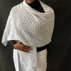 Classic Lacy Rectangle Shawl Pattern - Denise & Deborah