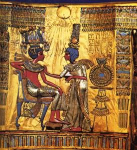 Fra Tutankamons grav.
