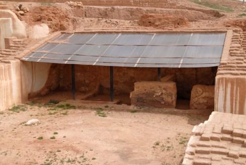 Resterne af biblioteket, Ebla, Syrien.