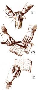 Fremstilling af papyrus.